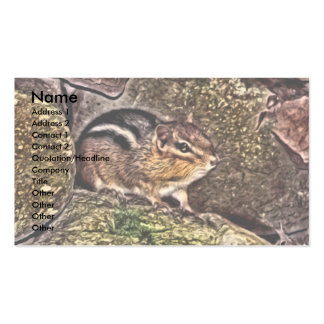 Chipmunk on Rocks Painting Business Card Template