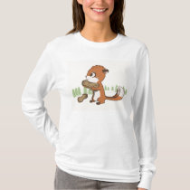 Chipmunk & Peanuts long sleeve shirt for women
