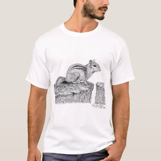 Chipmunk Pen and Ink Drawing T-Shirt