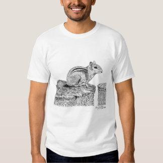 Chipmunk Pen and Ink Drawing Tee Shirt
