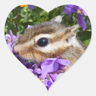 Chipmunk photo (30-15) heart sticker