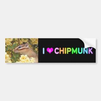Chipmunk photo (30-1) bumper sticker