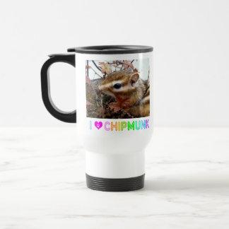 Chipmunk photo (30-6) travel mug