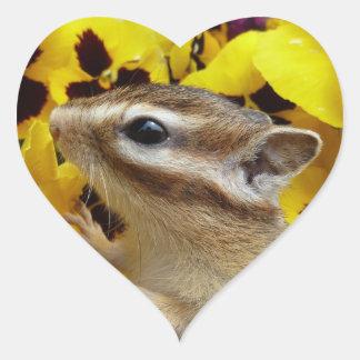 Chipmunk photo (30-9) heart sticker