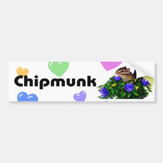 Chipmunk photo (4) type1 bumper sticker
