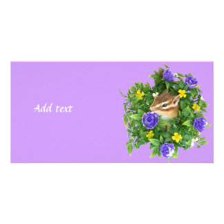 Chipmunk photo (4) type3 (You can customize) Card