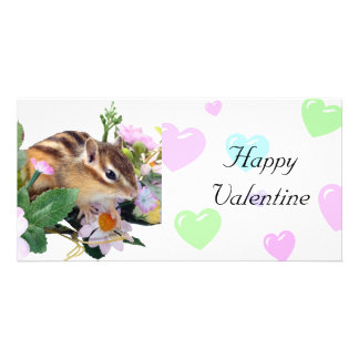 Chipmunk photo (7-15) and Happy Valentine Card