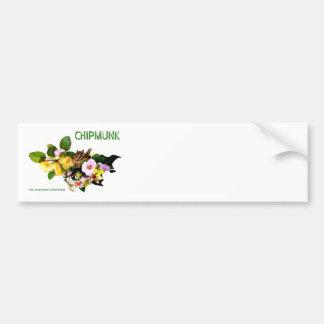 Chipmunk photo (7-6) bumper sticker