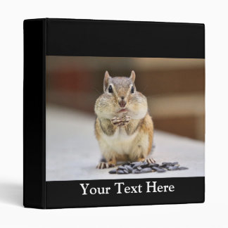 Chipmunk Picture 3 Ring Binder