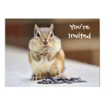 Chipmunk Picture Invitation