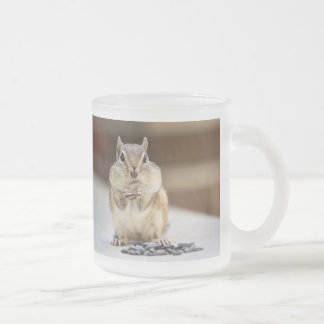 Chipmunk Picture 10 Oz Frosted Glass Coffee Mug