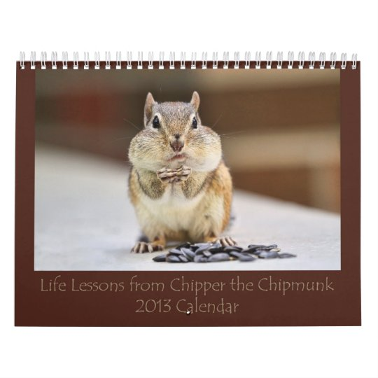 Chipmunk Pictures Life Lessons 2013 Calendar