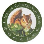 Chipmunk, placa plato de cena