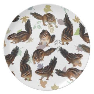 Chipmunk, placa plato de comida