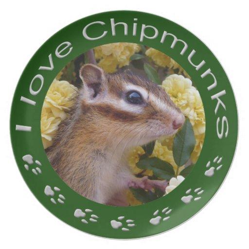 Chipmunk, placa platos para fiestas