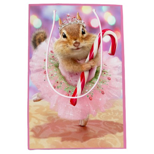 Chipmunk Plum Fairy Medium Gift Bag