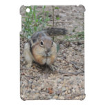 Chipmunk que alimenta en la tierra iPad mini cárcasa
