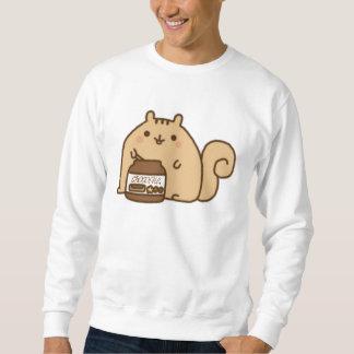 Chipmunk que come el ♥ del chocolate jersey