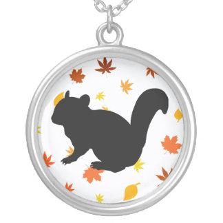 Chipmunk Round Pendant Necklace
