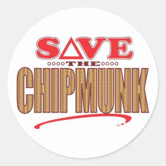 Chipmunk Save Classic Round Sticker