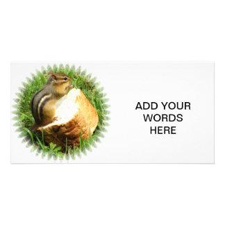 Chipmunk saying grace card