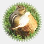 Chipmunk saying grace sticker