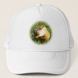 Chipmunk saying grace trucker hat
