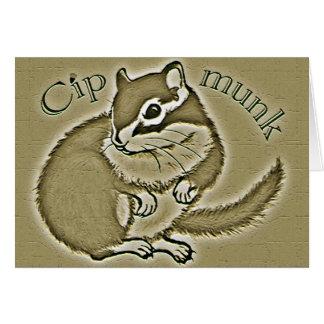 chipmunk (Sepia) Card