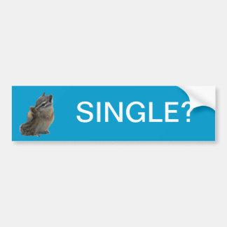 Chipmunk Single? Bumper Sticker Car Bumper Sticker