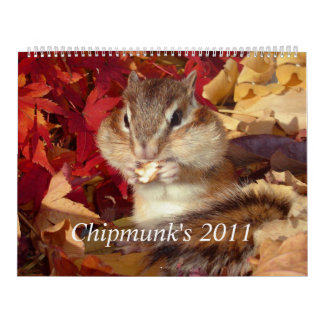 chipmunk, Squirrel and calendar (All countries)