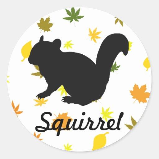 Chipmunk, Squirrel and illustration, (Black)