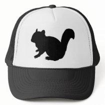 Chipmunk, Squirrel and illustration, (Black) Trucker Hat