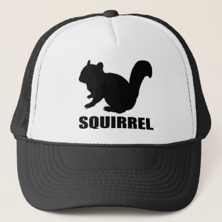 Chipmunk, Squirrel and illustration, (Black) Trucker Hat