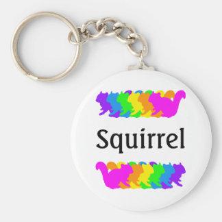 Chipmunk, squirrel and illustration (Colorful) Basic Round Button Keychain