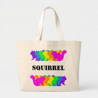 Chipmunk, squirrel and illustration (Colorful) Large Tote Bag