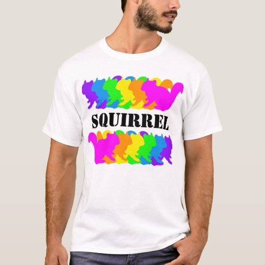 Chipmunk, squirrel and illustration (Colorful) T-Shirt