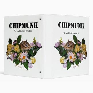 Chipmunk , Squirrel . (llustration , photo) 3 Ring Binder