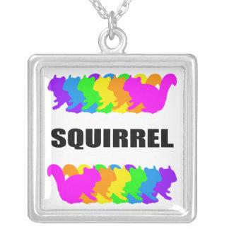 Chipmunk , Squirrel Square Pendant Necklace