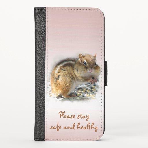 Chipmunk Stay Safe Healthy iPhone X Wallet Case