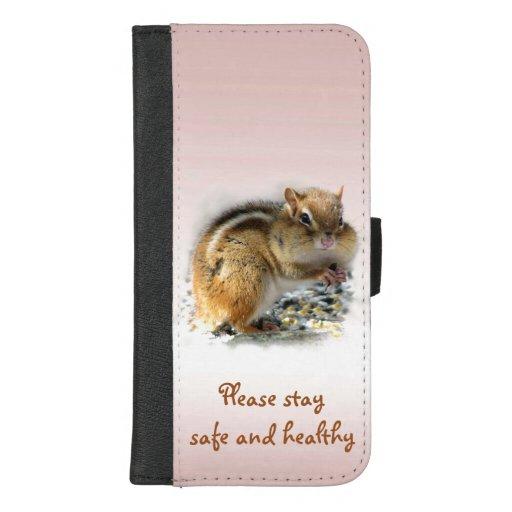 Chipmunk Stay Safe iPhone 8/7 Plus Wallet Case