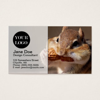 Chipmunk Stuffing His Face Business Card