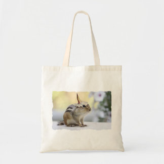 Chipmunk Wearing Flower Party Hat Tote Bag