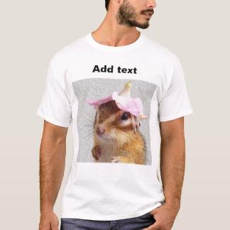 Chipmunk wears flower hat T-Shirt