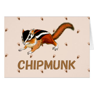 chipmunk which poses card