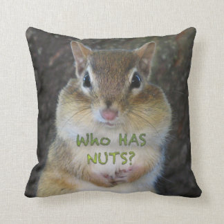 Chipmunk - Who Has Nuts? Pillows