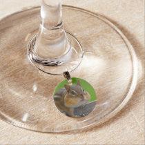chipmunk wine glass charm