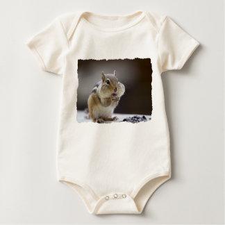 Chipmunk with Cheeks Full Photo Baby Bodysuit
