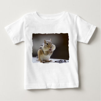 Chipmunk with Cheeks Full Photo Baby T-Shirt