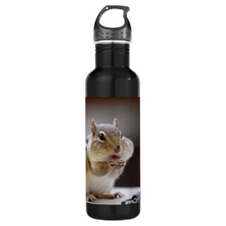 Chipmunk with Cheeks Full Photo Stainless Steel Water Bottle