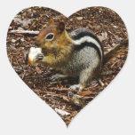 CHIPMUNK WITH NUT HEART STICKER